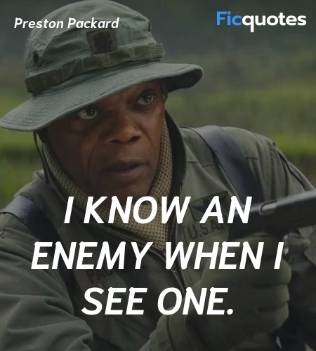 I know an enemy when I see one quote image