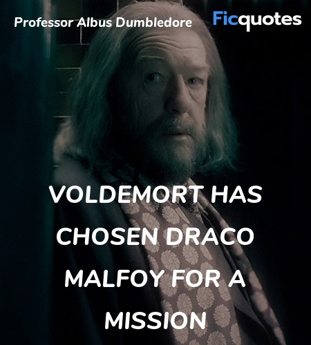 Voldemort has chosen Draco Malfoy for a mission... quote image