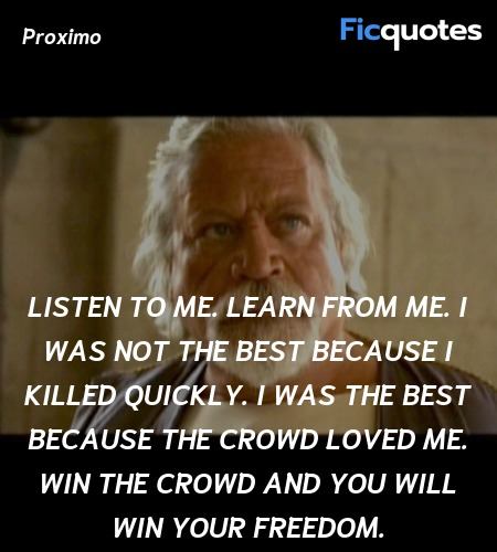 Listen to me. Learn from me. I was not the best ... quote image
