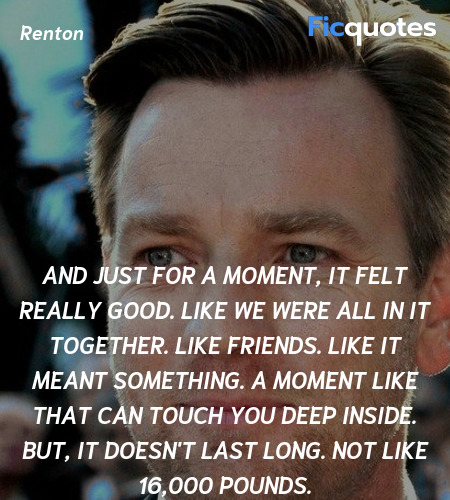 And just for a moment, it felt really good. Like ... quote image