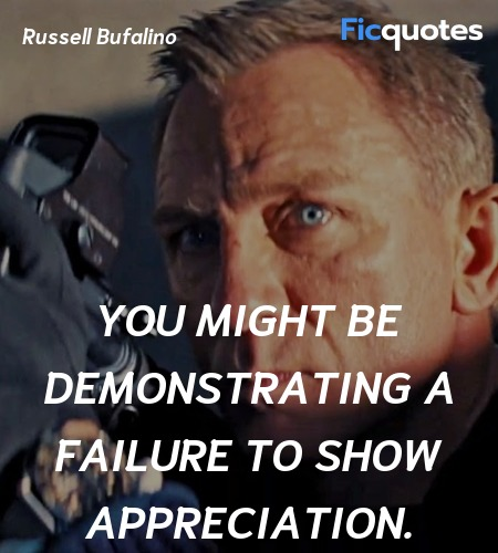 You might be demonstrating a failure to show ... quote image