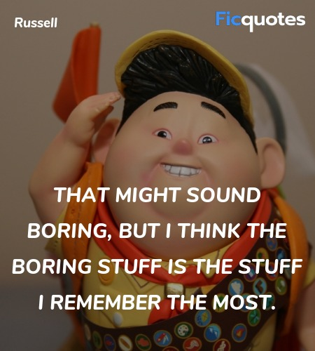 That might sound boring, but I think the boring ... quote image