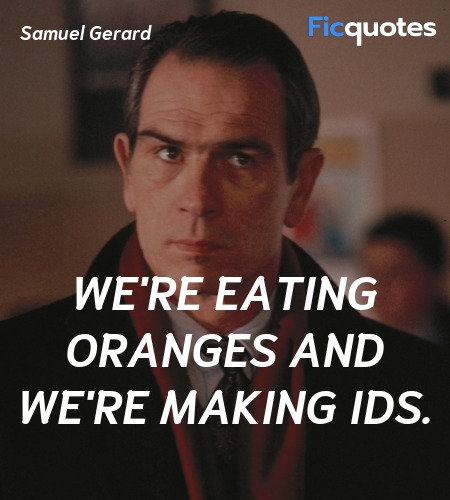 We're eating oranges and we're making IDs. image