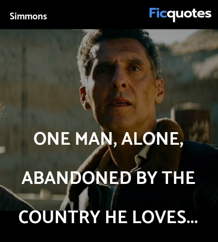 One man, alone, abandoned by the country he loves... image