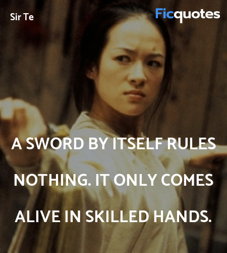 A sword by itself rules nothing. It only comes ... quote image