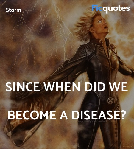 Since when did we become a disease? image