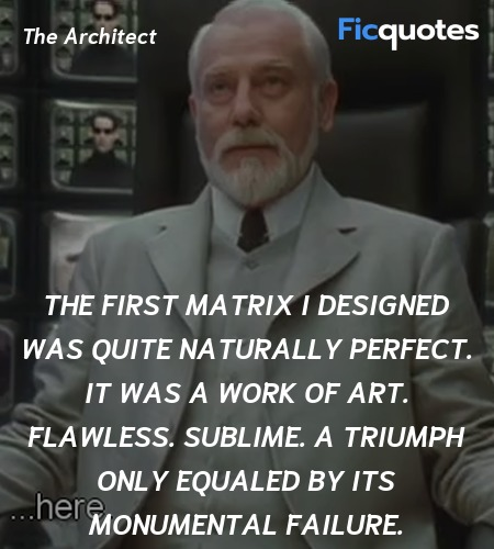 The first matrix I designed was quite naturally ... quote image