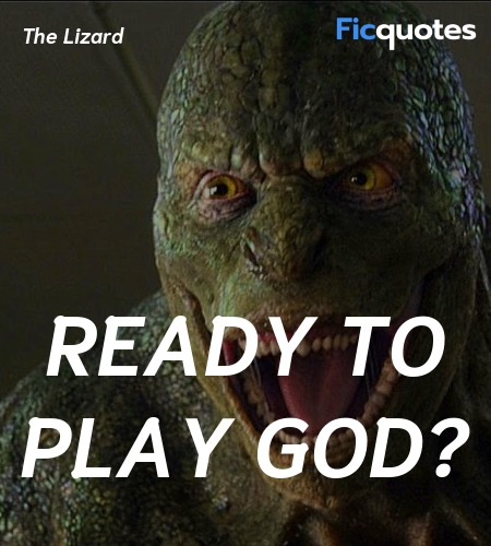 Ready to play God quote image