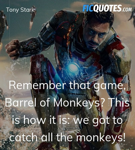 Remember that game, Barrel of Monkeys? This is how... quote image