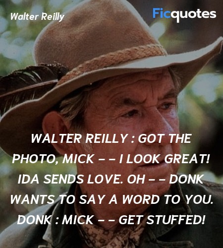 Mick - - get stuffed quote image