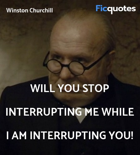Will you stop interrupting me while I am interrupting you! image