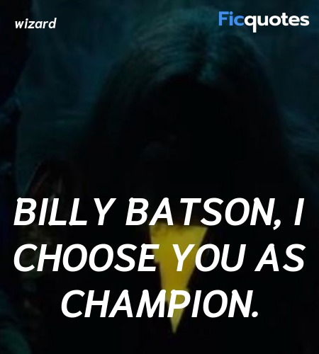 Billy Batson, I choose you as champion quote image
