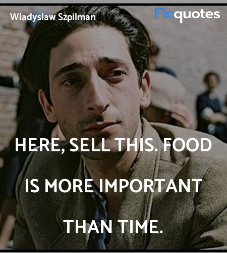 Here, sell this. Food is more important than time... quote image