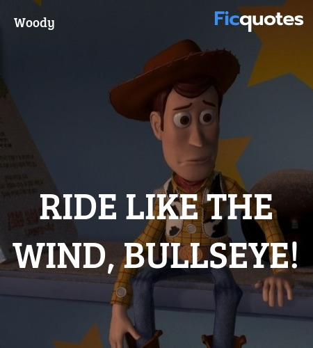 Ride like the wind, Bullseye! image