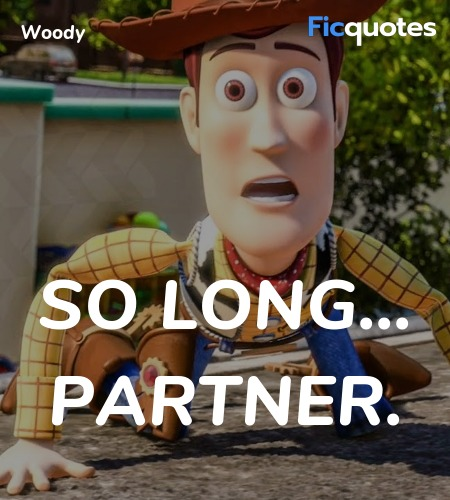 So long... partner quote image